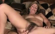 Horny And Hairy MILF Masturbates Alone