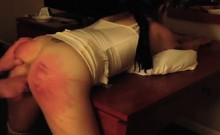 Caning ass of my slave Diana without mercy