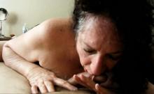 Brunette Grandma Eating Her Lover's Dick