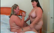 Wild lesbo BBW girlfriends working their big breasts