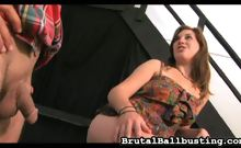 Lacey Lawless Ball Busting at the Bar